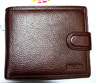 Мужской кошелек Balisa из натуральной кожи на кнопке 12,5*10?5 см
