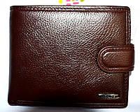 Мужской коричневый кошелек Balisa из натуральной кожи на кнопке 12,5*10?5 см