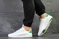 Кроссовки мужские Adidas Pharrell Williams (реплика), артикул 7956 белые с зеленым