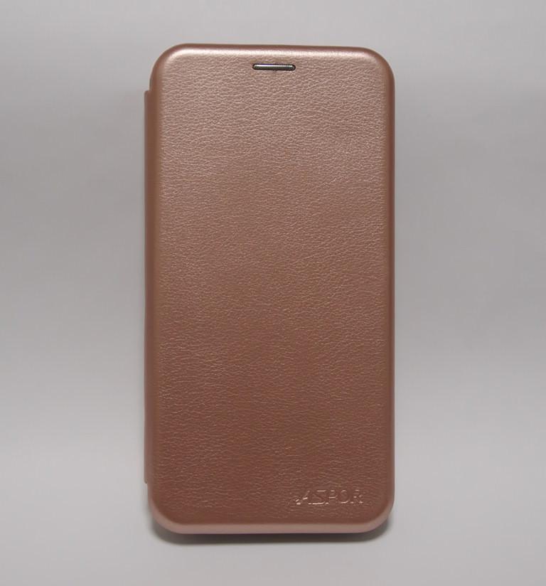 Чехол-книжка для Samsung Galaxy A10 A105F розовое золото ASPOR