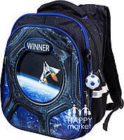 Рюкзак школьный ортопедический для мальчика  Winner Stile Космический корабль 8071