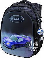 Рюкзак школьный ортопедический для мальчика  Winner Stile Машина 8072
