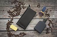 Кожаный купюрник Giorgio Armani / Мужской купюрник, бумажник из натуральной кожи, фото 1