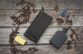 Кожаный купюрник Giorgio Armani / Мужской купюрник, бумажник из натуральной кожи