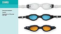 Окуляри для плавання (очки) INTEX 55692 (12шт) для плавання (14+років) 3 види, захист від УФ-променів