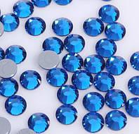 Стразы термоклеевые Premium Capri Blue SS16 Hot Fix 1440 шт. Термо стразы