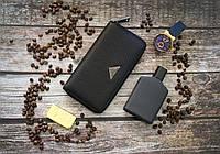 Кожаный клатч Prada / Мужской клатч из натуральной кожи