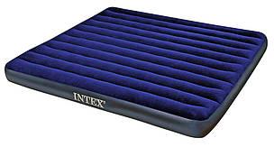 Надувной двухспальный 2-х местный матрас Intex 68755 203х183х22см, фото 2