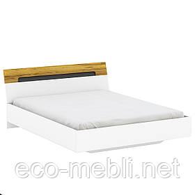 Двоспальне ліжко M 160х200 в спальню Onyx Німфея Альба / Дуб Крафт Золотий Blonski
