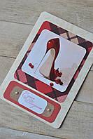 """Открытка  ручной работы для девушки (женщины) """"Красная туфелька"""""""