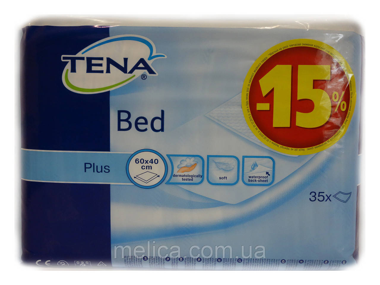 Пеленки TENA Bed Plus (60х40 см) – 35 шт.