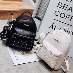Женский рюкзак городской, Bailimen с кошельком 1020 🎁 Браслет в подарок