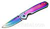 Нож складной Хамелеон, молодежный дизайн + клипса для ремня. Красивый, удобный и надежный нож  для мужчины.