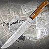 """Нож Спутник """"Колосок М"""" для хлеба с притыном из высококачественной стали. Материал рукояти - дуб."""