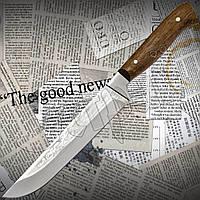 """КУхонный нож Спутник №37 """"Буковый"""" универсальный с принтом из высокопрочной стали."""
