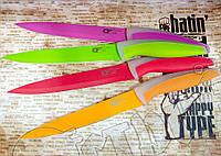 Нож Kitchen fun ( CF ) S 203 нарезной с антибактериальным керамическим покрытием. Рукоять из пищевого пластика, фото 1