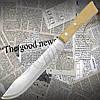 Ніж кухонний Tramontina 22947/107 Nativa для м'яса з рукояттю з натуральної деревини. Ніж гостро заточений