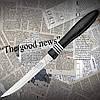 Нож кухонный Tramontina 23450/005 COR&COR для стейка с резиновыми вставками на рукояти. Удобно лежит в руке