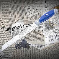 Нож кухонный С - 032 для хлеба с волнистым длинным лезвием. Удобная эргономичная рукоять. Высокое качество