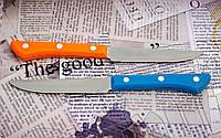 Нож овощной Kiwi б с цветной пластиковой рукоятью. Материал лезвия - нержавейка, фото 1