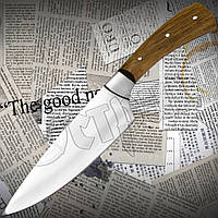 Нож Спутник №123 поварской с притыном. Остро заточенный кухонный нож с широким лезвием