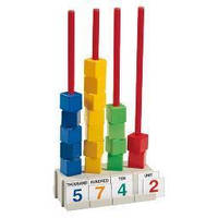Набір для навчання рахунку Кубики на стрижнях, 3+, фото 1