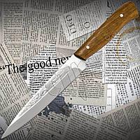 Нож Спутник №78 разделочный с широким длинным лезвием. Остро заточенный кухонный нож