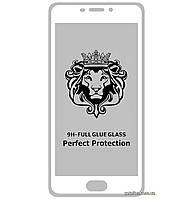 Защитное стекло 5D Full Glue для Meizu M5 Note White (Screen Protector 0,3 мм)