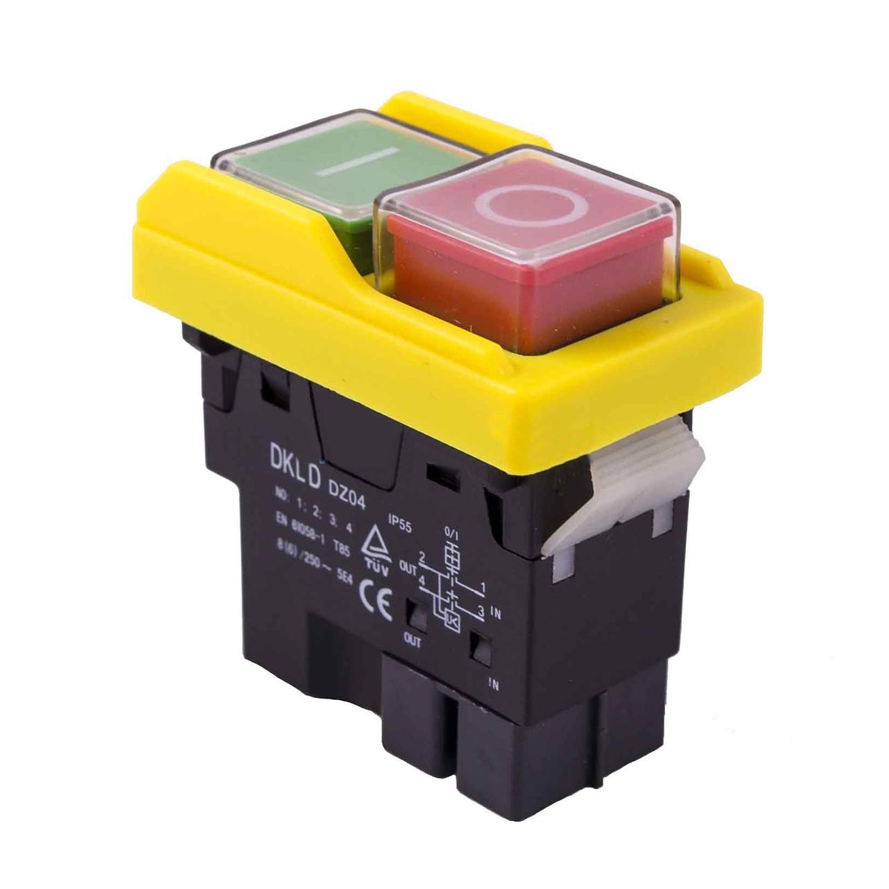 Кнопка на бетономешалку (8 А) 4 контакты