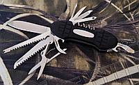 Многофункциональный складной нож Тотем KT6011PR с прорезиненным корпусом. Отменное качество, фото 1