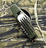 Мультиинструмент походный № YK 06: ложка+вилка+нож+открывалка. Отменное качество