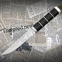 Нескладной охотничий нож Тотем К 29 из нержавеющей стали с деревянной рукоятью. Удобный в руке, фото 1