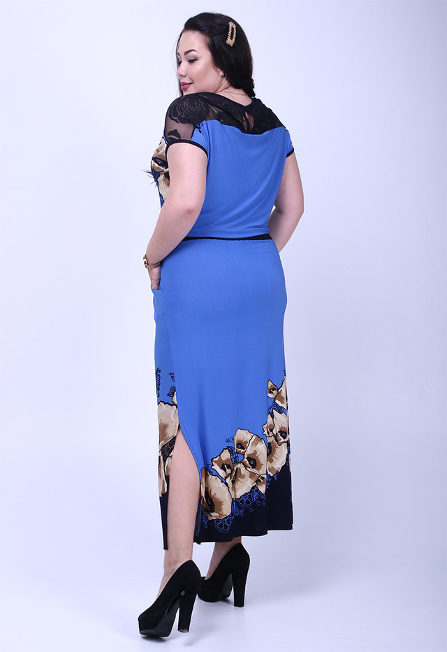 Фото-1 Длинного ботального летнего платья Ирма-1