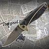 Нож складной № 117 с прорезиненной рукоятью. Небольшой острый клинок, удобная рукоять.