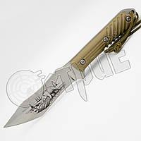Нож туристический FDX -2 Медведь с тканевым чехлом. Эргономичная рукоять, удобно лежит в руке, фото 1