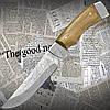 Туристический нескладной нож Спутник Модель 2Б с деревянной рукоятью и клинком и нержавейки