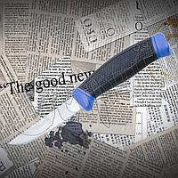Нож для дайвинга А 201 из нержавейки. Рукоять обрезинена. Пластиковый чехол в комплекте., фото 1