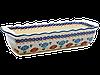Форма для выпечки и запекания прямоугольная керамическая большая 40 х 16 Anemones