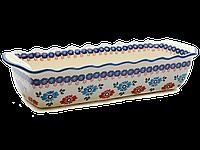 Форма для выпечки и запекания прямоугольная керамическая большая 40 х 16 Anemones, фото 1