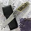 Нож складной №2331 (кость) с тканевым чехлом. Лезвие с фиксатором. Удобная рукоять. Остро заточенное лезвие