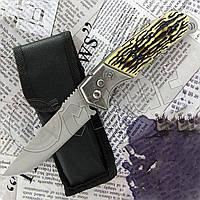 Нож складной №2331 (кость) с тканевым чехлом. Лезвие с фиксатором. Удобная рукоять. Остро заточенное лезвие, фото 1