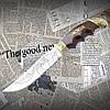 """Нож туристический эксклюзивный Спутник """"Орел"""" с удобной рукоятью. Высокое качество"""