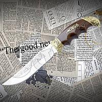 """Нож туристический эксклюзивный Спутник """"Орел"""" с удобной рукоятью. Высокое качество, фото 1"""