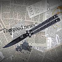 Нож- бабочка Тотем Y13 из высокопрочной стали с фиксатором. Отменное качество, фото 1