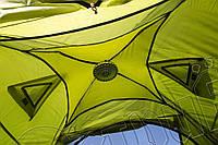 Палатка JY 1537 3- местная двухслойная, туристическая с элементами москитной сетки. Отличное качество, фото 1