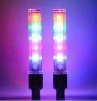 Многоцветные, светящиеся колпачки на ниппель, 5 светодиодов.