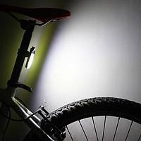 Фара 2 в 1 для велосипеда ZH-1608 с креплением на раму и защитой от дождя, фото 1