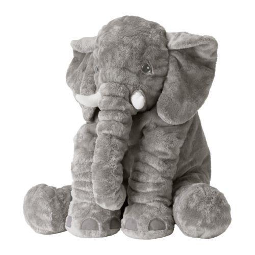 Мягкая игрушка IKEA JÄTTESTOR слон серый 703.735.91