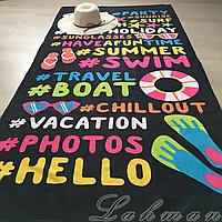 Коврик - полотенце пляжное 85х170 см., покрывало для пляжного отдыха