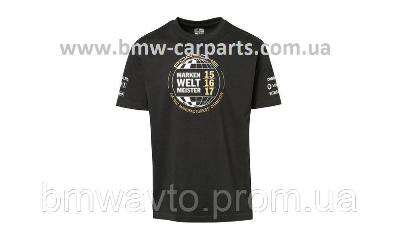 Футболка унісекс Porsche T - Shirt, Unisex, Black - Markenweltmeister, фото 2
